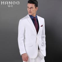 新品男白色新郎结婚礼服修身韩版青年小西装潮英伦两件套西服套装