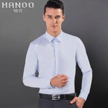 男士长袖拼接方领衬衫英伦时尚修身免烫休闲韩版衬衣潮寸衫